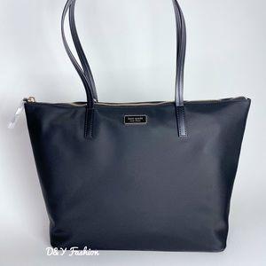Kate Spade Hayden Top Zip Nylon Tote Bag in Black